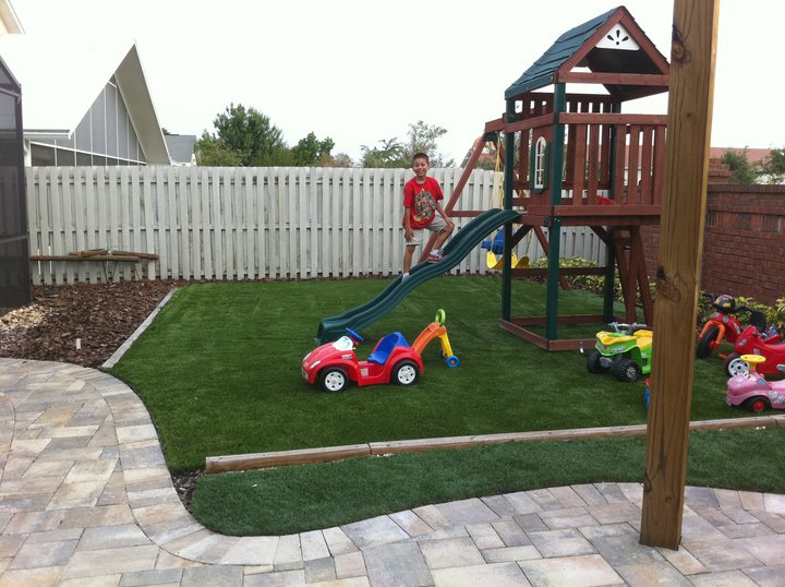 How to create a kid friendly garden john madison landscape for Kid friendly garden design ideas